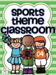 Sports classroom theme kit! It has everything you need to get a sports theme started in your room. And it is EDITABLE!!! Super cute!