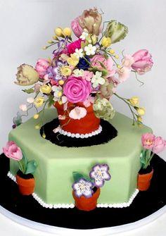 Photo Slideshow: Cakes: Cake Boss: TLC Potted Plants, Pot Cake, Cake Design, Buddi Valastro, Flower Cakes, Flower Pots, Tulip Flower, Cake Boss, Sugar Flowers