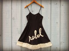 Rebel Upcycled Little Black Dress// Recycled Summer by emmevielle, $75.00