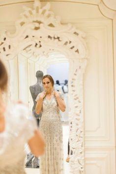 dress store, bride detail