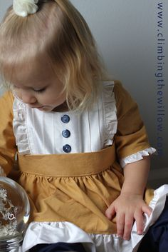 Gorgeous take on the Bumblebee Dress by Sewing Mama RaeAnna