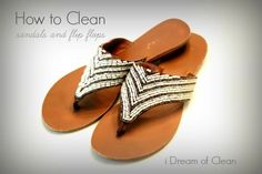 How to Clean Flip Flops and Sandals...OR could it be time to throw them out!