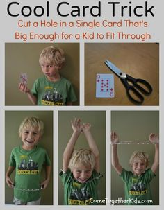Come Together Kids: Fun Card Trick (you can step through a playing card)