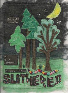 Slithered. Original felt image.