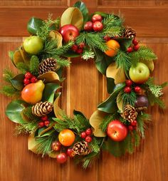 24 fruit and pinecone wreath christmas fruit wreaths 1800flowers com