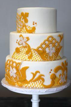 sauci shop, yellow weddings, cake tutorial, vintage, shops, color, wedding cakes, white cakes, layer cake