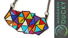 DIY: STATEMENT NECKLACE - from polymer clay (Leather necklace effect) - ...