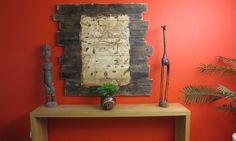Mural decorativo de madera de un mapa pirata debo intentar, muebl reciclado