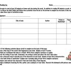 Each week students will complete this reading log.  This log requires the student to identify the title, author, genre (fiction or nonfiction), and...