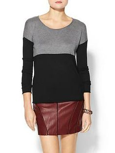 Splendid Cashmere Blend Colorblock Sweater | Piperlime