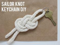 sailor knot keychain diy