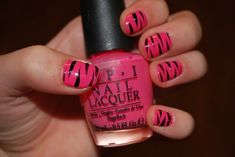 Zebra Stripes Fingernail polish tutorial--
