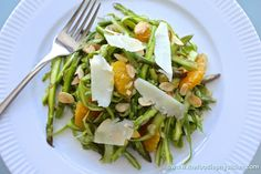 Shaved Asparagus Salad with Oranges, Almonds and Manchego foodies, salad recipes, almonds, shave asparagus, oranges, manchego, salads, asparagus salad, foodi physician