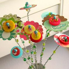 ButtonArtMuseum.com -  Cute for the garden
