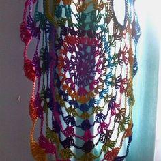 #Crochet cobweb waistcoat from bethshannanne