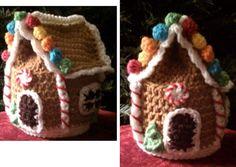 Gingerbread House HAT #crochet pattern $4.99