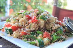 Roast vegetable and quinoa salad