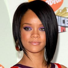 Rihanna asymetrical bob haircut. One day!!
