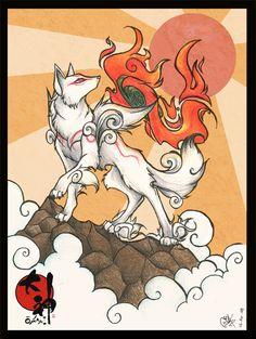Amaterasu... Sweet lookin fox character from Okami