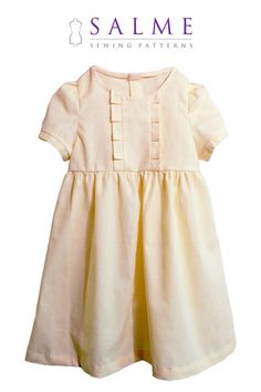 Vintage and cute, would look great on Addie!    Maija dress PDF pattern  12 months to 7 years by Salmepatterns, $7.00