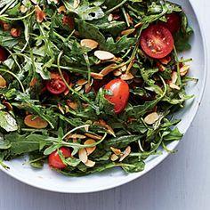 Arugula, Tomato, and Almond Salad | MyRecipes.com