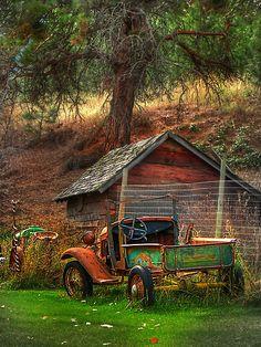 car, john poon, countri livin, old trucks, beauti, abandon, old fords, barns and trucks, old barns