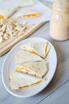 Buffalo Ranch Chicken Quesadillas by Pennies on a Platter, via Flickr