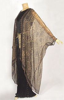 Fortuny stenciled wrap, 1920s