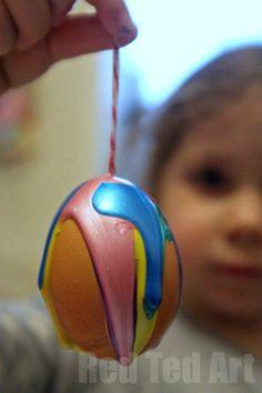 Egg Decorating Ideas: Drip Art Rainbow Eggs