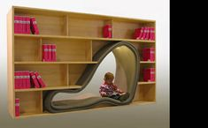 Cave bookshelf, man i would read every second if i had one of these!