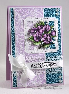Inspired to Stamp: Backgrounds Galore card designed by Kathy Jones