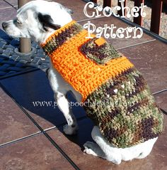 crochet pet, camo, small dogs, crochet mascotas, sweater patterns, dog sweaters, crochet patterns, crochet idea