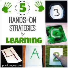 Hands On Learning Strategies for Preschool and Kindergarten.