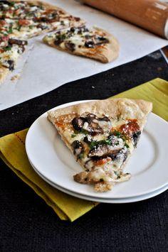 Whole Wheat Fontina Portobello Pizza