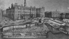 Picture of how the Leeds city station underground would have looked if completed