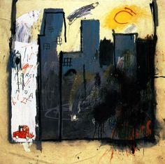 1981 J.M. Basquiat Sans Titre Crayon gras sur papier