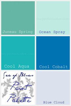 beach color paint palette