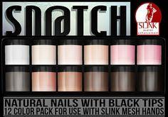 Sn@tch Nails-Natural Black Tips Vendor Ad LG | Flickr - Photo Sharing!
