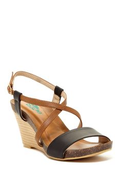 Gemika Stacked Wedge Sandal wedg sandal, wedge sandals, stack wedg