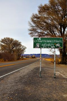 The Extraterrestrial Highway (aka Nevada State Route 375) takes you through the desert, where alleged alien encounters have occurred! #roadtrip