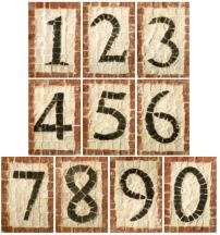 Ceramic Mosaic | Exotic House Numbers Ceramic Tiles for Your Mail Box or Exterior Home ...