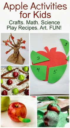Apple Activities for Kids- Pinned by @PediaStaff – Please Visit ht.ly/63sNtfor all our pediatric therapy pins