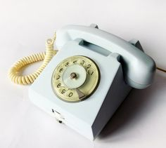 Light Blue Green Rotary phone  1972 Vintage European by wwvintage, $70.00
