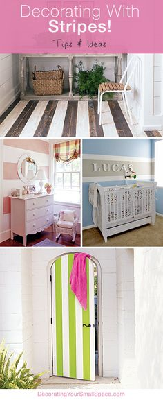 Bring on the Stripes! Great Tips and Ideas for decorating with Sripes!