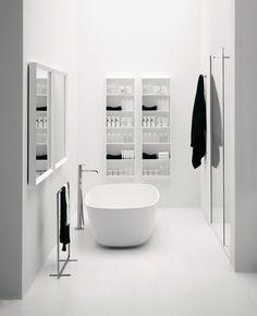 #white #bathroom #minimal