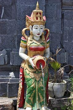 Beautiful Woman Statute Pouring Water | #Bali #Indonesia - #SouthEast #Asia