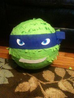 TMNT custom party Pinata Leonardo Raphael by buddyluvo2 on Etsy, $24.50
