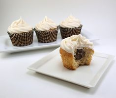 Chocolate Cream Filled Vanilla Bean Cupcakes