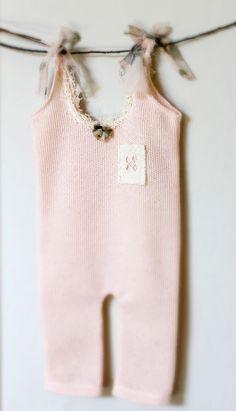 Newborn Peach Vintage Lace Romper by PetuniaandIvy on Etsy, $40.00