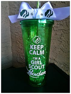 girl scout cookies, cups, acrylics, wall cup, gifts, girlscout, keep calm, straws, girl scout leader